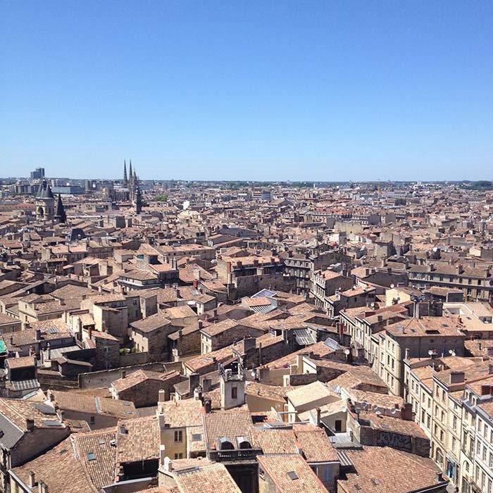 Bordeaux vue de la fleche st michel