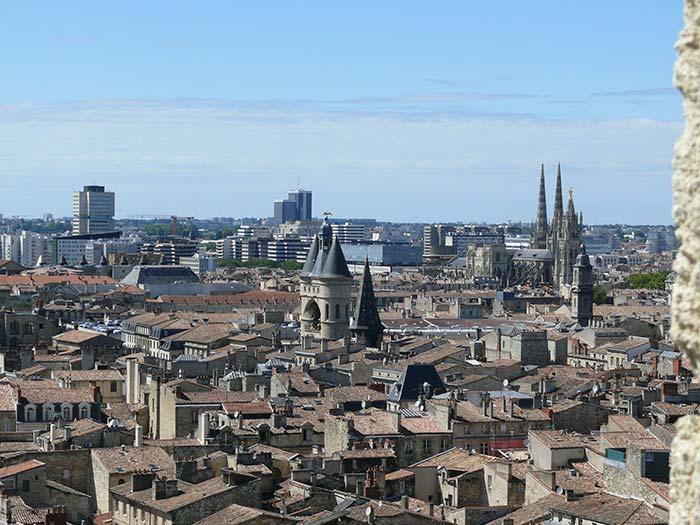 Vue aérienne Bordeaux centre ville