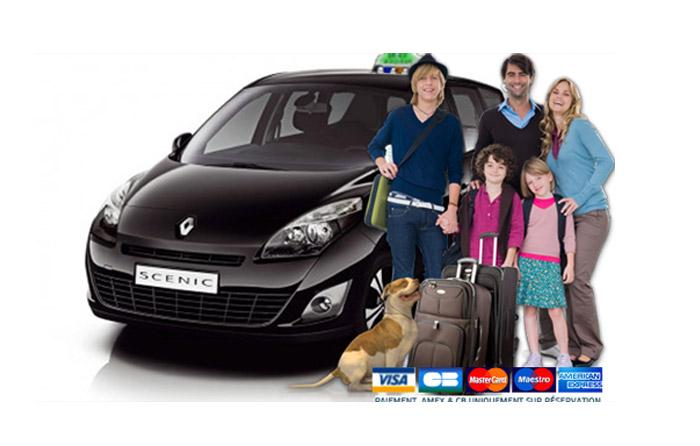 taxi familial 7 places direction aéroport Bordeaux Mérignac